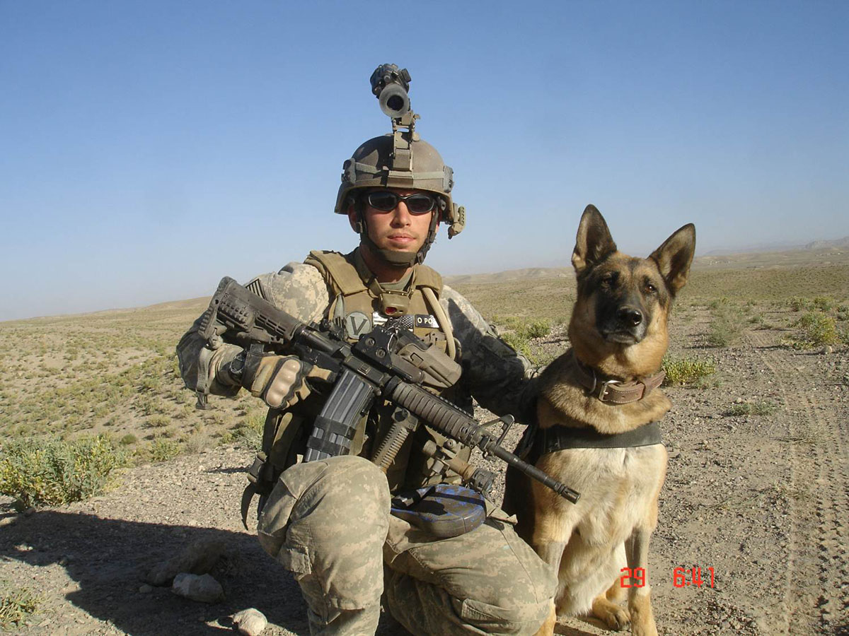 Army Dog Handler Forces Dog Handler